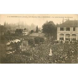 38 GRENOBLE. Meeting L.D.A.C 1925 la foule écoutant les discours