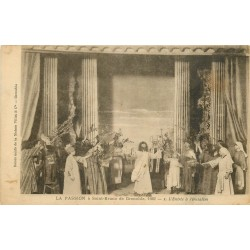 38 GRENOBLE. La Passion à Saint-Bruno 1922 en 5 tableaux cpa. Jérusalem, Sanhédrin, Baiser Judas, Jésus Pilate, Golcotha
