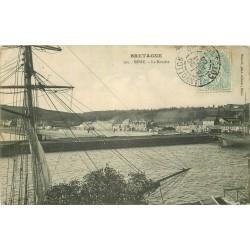22 BINIC. La Banche avec grand Voilier 1908