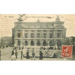 PARIS 09. L'Opéra et Métropolitain 1908