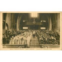 22 SAINT-BRIEUC. Communion solennelle à Sainte-Thérèse de Gouëdic 1933