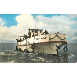 """Photo Cpsm 17 ILE D'AIX. Bateau """" Le Roi de Rome """" en service 1962"""