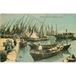 34 CETTE ou SETE. Groupe de Bateaux Boeufs 1920
