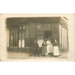 """93 AUBERVILLIERS. Café Restaurant maison """" Cabaret """" 129 route de Flandre 1915"""