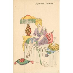 Illustrateur René Gilles JOYEUSES PAQUES mignardises et mode