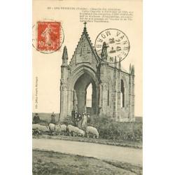 85 LES HERBIERS. Chapelle des Alouettes animation avec Moutons 1915