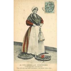 13 MARSEILLE. La Poissonnière 1907 carte colorisée
