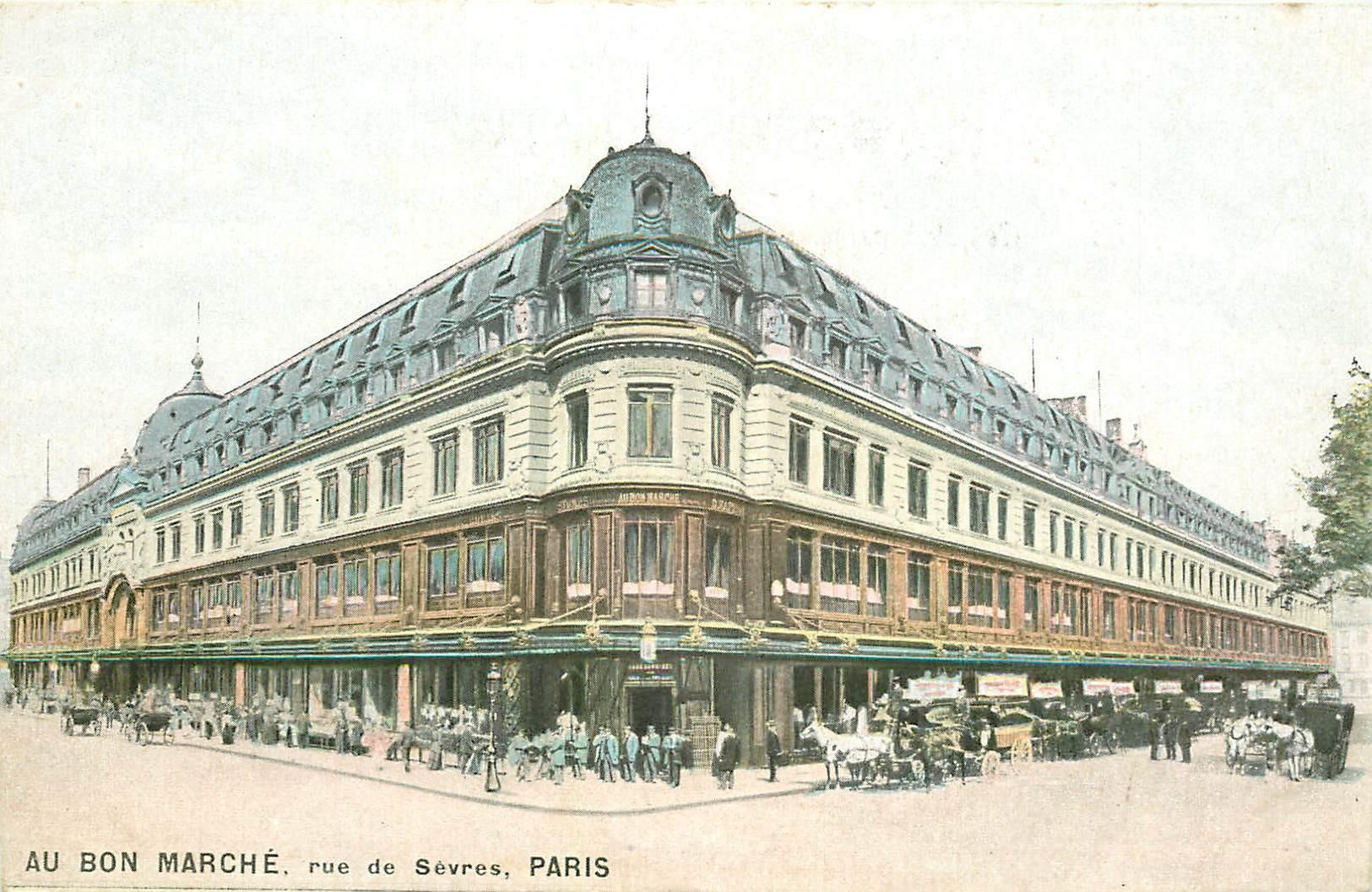 PARIS 07. Au Bon Marché rue de Sèvres vers 1900