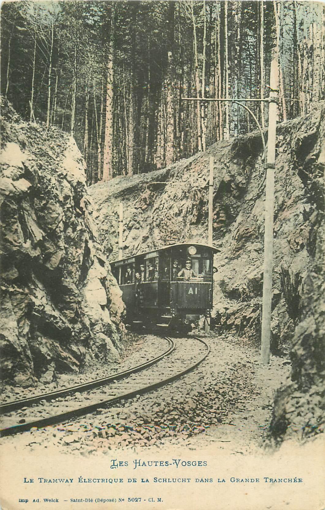 88 LA SCHLUCHT. Le Tramway électrique dans la Grande Tranchée