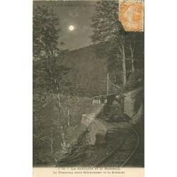 88 LA SCHLUCHT ET LE HOHNECK. Tramway de Retournemer 1921 de nuit.