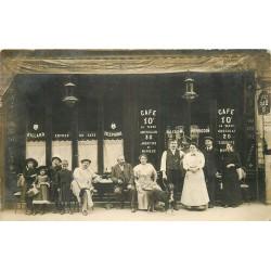 PARIS 18° Photo carte postale Café Perrodin 24 rue Damrémont 1914