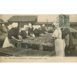 85 LES SABLES D'OLONNE. Remuage des Sardines 1919