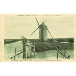 85 SAINT-JEAN-DE-MONTS. Moulin à vent route de Beauvoir 1960