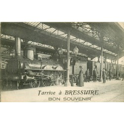 79 Je pars de BRESSUIRE. Train avec locomotive en Gare 1919