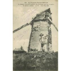 62 HEBUTERNE. Le Moulin à vent bombardé 1915