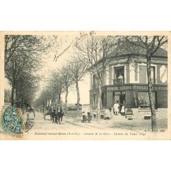 93 AULNAY-SOUS-BOIS. Quincaillerie Avenue de la Gare entrée du Vieux Pays 1905