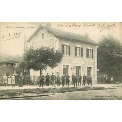 52 CELSOY. La Gare 1916