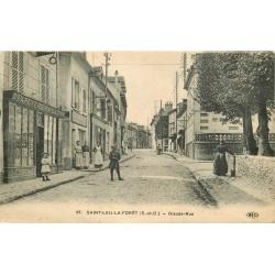 95 SAINT-LEU-LA-FORET. Papeterie sur Grande Rue 1922