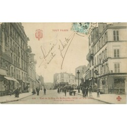 PARIS XIX et XX. Rue de Belleville prise de la Barrière 1905