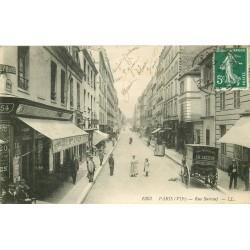 PARIS VII. Attelage livraison Lecerf face maison vins Colin rue Surcouf 1909