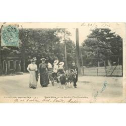 PARIS XVI. Au Jardin d'Acclimatation ballade en attelage de Boucs Chèvres 1904