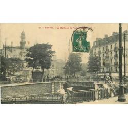 93 PANTIN. Mairie et Pont du Canal 1911