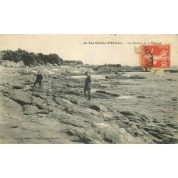 85 LES SABLES D'OLONNE. Rochers de la Chaume vers 1919