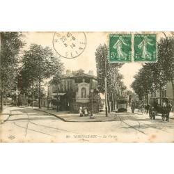 93 NOISY-LE-SEC. La Vierge et le Tramway pour Opéra 1914