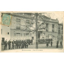95 MONTMORENCY. La Musique des Pompiers Place de la Mairie 1905