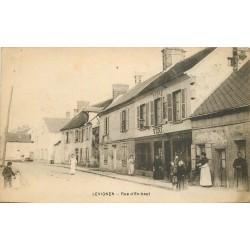 60 LEVIGNEN. Vins Tabac sur Rue d'En-Haut 1919