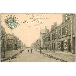 carte postale ancienne 02 TERGNIER. Boulevard Henri Martin 1906. Bonneterie
