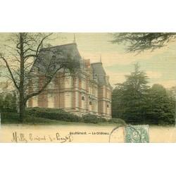 95 BOUFFEMONT. Le Château superbe carte toilée colorisée vers 1907