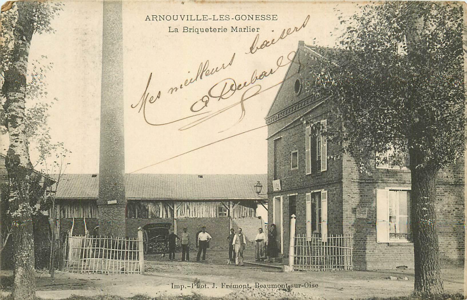 95 ARNOUVILLE-LES-GONESSE. La Briqueterie Marlier 1915
