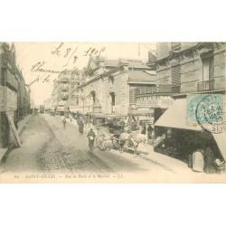 93 SAINT-DENIS. Le Marché rue de Paris 1905