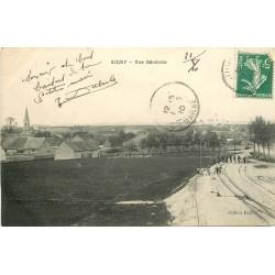 51 AIGNY. Vue générale avec animation sur les rails 1910