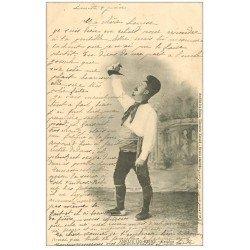 carte postale ancienne 66 AMELIE-LES-BAINS. Catalan buvant du vin 1903