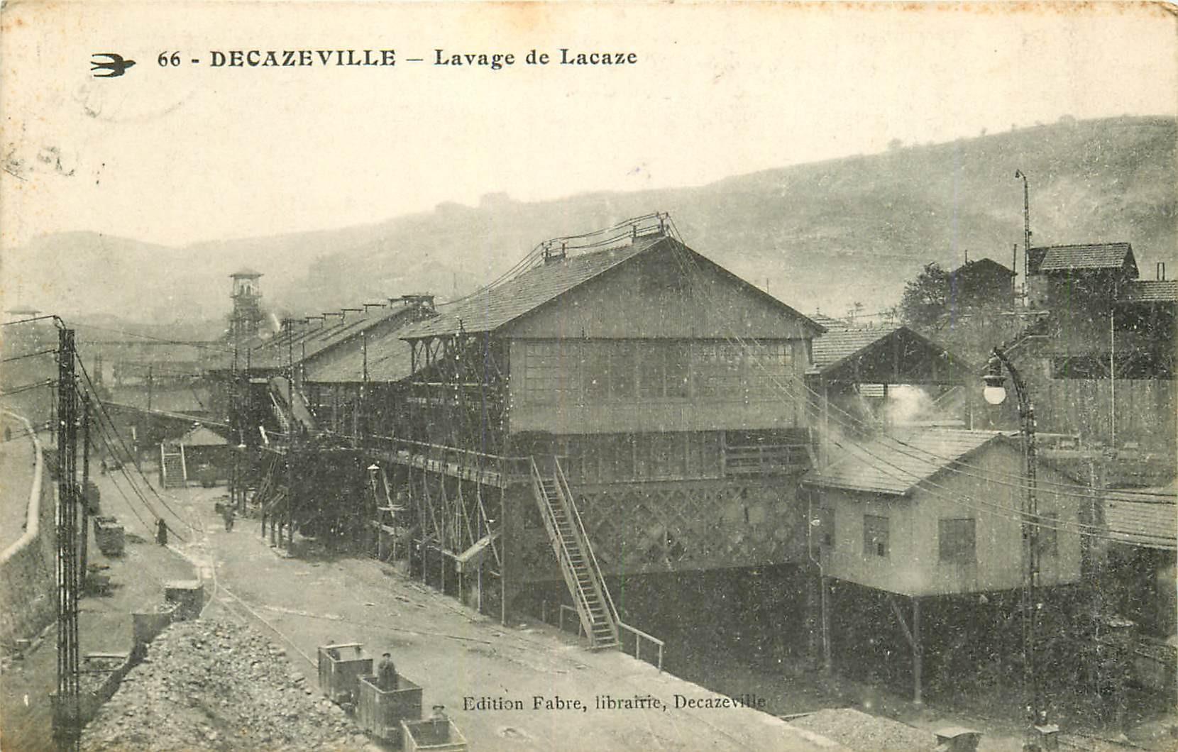 12 DECAZEVILLE. Lavage de Lacaze Mines de charbon