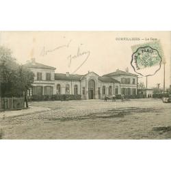 95 SURVILLIERS. La Gare 1906 avec Ouvriers terrassement