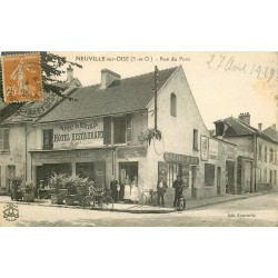 95 NEUVILLE-SUR-OISE. Hôtel Restaurant Brasserie de l'Ecluse rue du Pont 1929