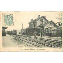 93 AULNAY-SOUS-BOIS. Entrée d'un Train en Gare 1905