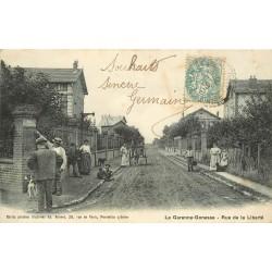 95 LA GARENNE-GONESSE. Rue de la Liberté avec attelage livraisons du Boucher 1906