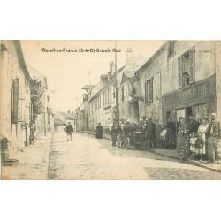 95 MAREIL-EN-FRANCE. Grande rue voiture ancienne devant Epicerie Coulon