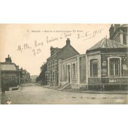 62 BRUAY. La Poste rue de la Gendarmerie 1915