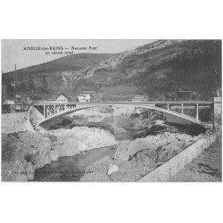 carte postale ancienne 66 AMELIE-LES-BAINS. Nouveau Pont en ciment armé