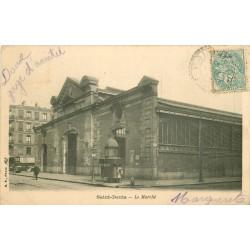 2 x Cpa 93 SAINT-DENIS. Le Marché et panorama 1906