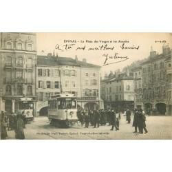 88 EPINAL.Cafés du Commerce et du Globe avec Grande Pharmacie Place des Vosges