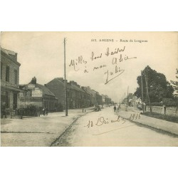 80 AMIENS. Bar terrasse Route de Longueau 1916