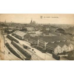 21 DIJON. Vue générale sur la Gare et ses trains vers 1918