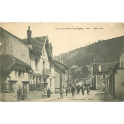 88 RUPT-SUR-MOSELLE. Lette Grande Rue 1918 avec militaires et Docks Saint-Georges