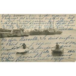 35 DINARD. Le Bac et Pêcheurs sur barques 1905
